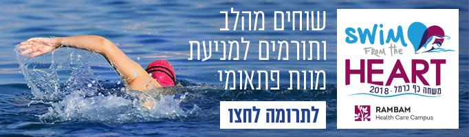 משחה כף כרמל - Cape Carmel - Swim from the Heart - תרומה